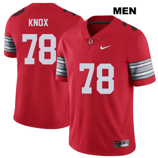 Demetrius Knox 2018 Spring Game Mens Red Nike Ohio State Buckeyes Authentic Stitched no. 78 College Football Jersey - Demetrius Knox Jersey