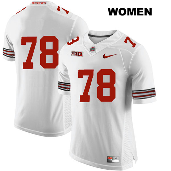 Demetrius Knox Nike Womens Stitched White Ohio State Buckeyes Authentic no. 78 College Football Jersey - Without Name - Demetrius Knox Jersey