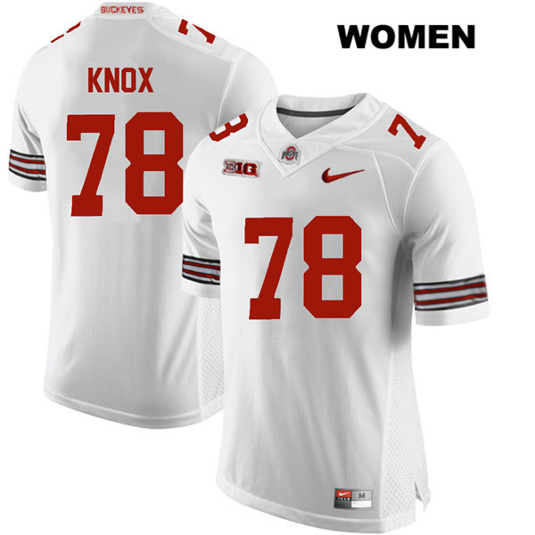 Demetrius Knox Womens White Nike Ohio State Buckeyes Authentic Stitched no. 78 College Football Jersey - Demetrius Knox Jersey