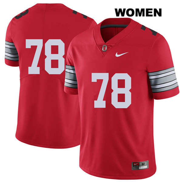 Demetrius Knox Stitched Womens Red Nike Ohio State Buckeyes 2018 Spring Game Authentic no. 78 College Football Jersey - Without Name - Demetrius Knox Jersey