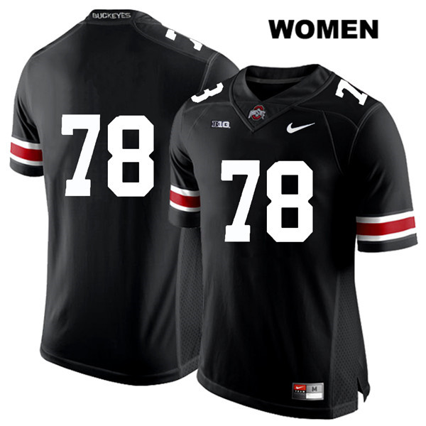 Demetrius Knox Womens White Font Stitched Black Ohio State Buckeyes Authentic Nike no. 78 College Football Jersey - Without Name - Demetrius Knox Jersey