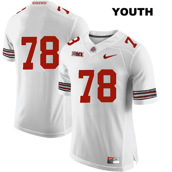 Demetrius Knox Youth White Stitched Nike Ohio State Buckeyes Authentic no. 78 College Football Jersey - Without Name - Demetrius Knox Jersey