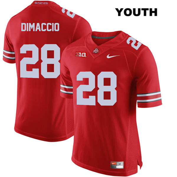 Dominic DiMaccio Youth Red Stitched Ohio State Buckeyes Nike Authentic no. 28 College Football Jersey - Dominic DiMaccio Jersey