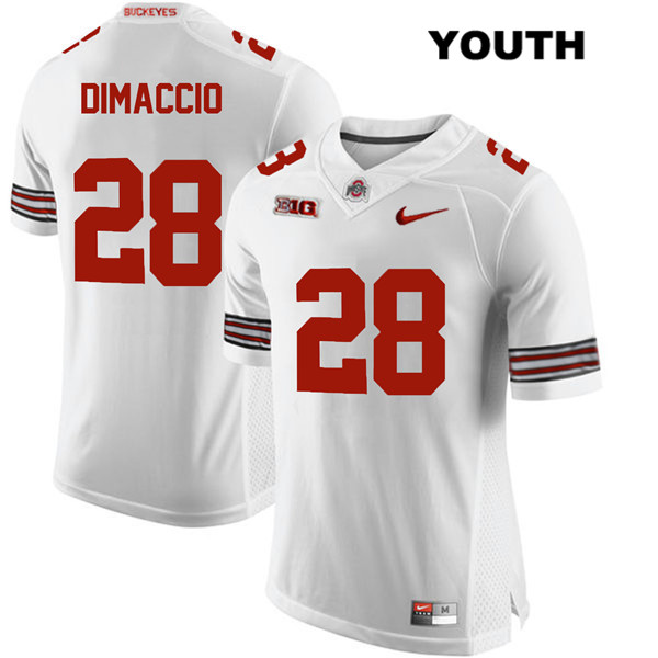 Dominic DiMaccio Nike Youth White Stitched Ohio State Buckeyes Authentic no. 28 College Football Jersey - Dominic DiMaccio Jersey