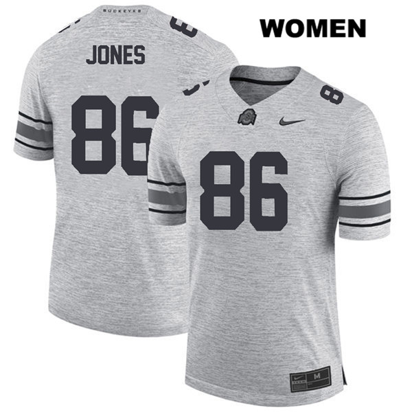 Dre'Mont Jones Womens Gray Ohio State Buckeyes Stitched Authentic Nike no. 86 College Football Jersey - Dre'Mont Jones Jersey