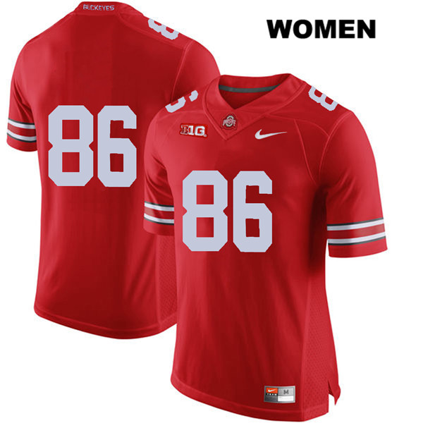 Dre'Mont Jones Womens Red Ohio State Buckeyes Nike Authentic Stitched no. 86 College Football Jersey - Without Name - Dre'Mont Jones Jersey