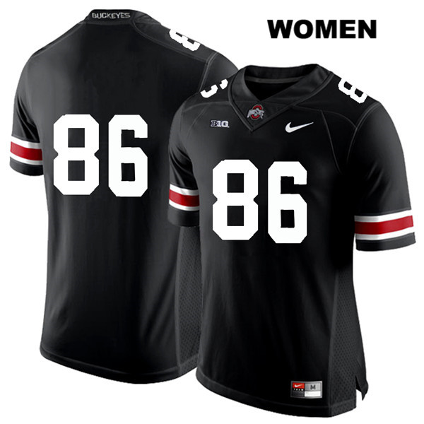 Dre'Mont Jones Stitched Womens White Font Black Ohio State Buckeyes Nike Authentic no. 86 College Football Jersey - Without Name - Dre'Mont Jones Jersey