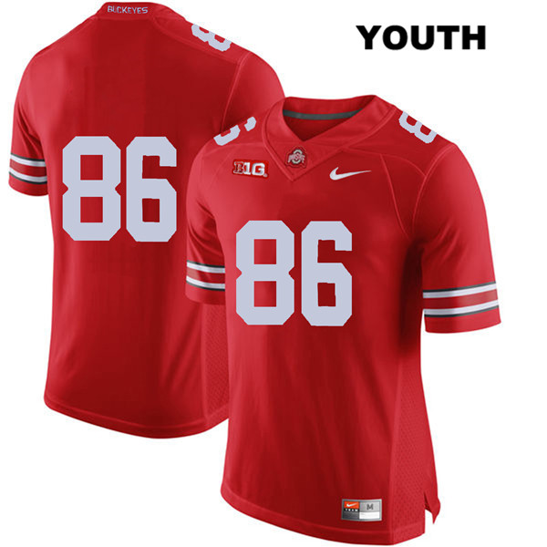 Dre'Mont Jones Youth Stitched Red Ohio State Buckeyes Nike Authentic no. 86 College Football Jersey - Without Name - Dre'Mont Jones Jersey