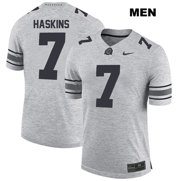 Dwayne Haskins Mens Gray Nike Ohio State Buckeyes Authentic Stitched no. 7 College Football Jersey - Dwayne Haskins Jersey