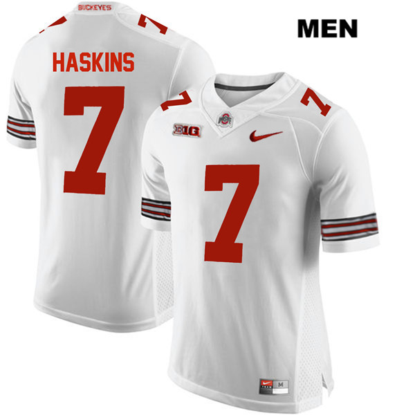 Dwayne Haskins Stitched Mens White Ohio State Buckeyes Authentic Nike no. 7 College Football Jersey - Dwayne Haskins Jersey