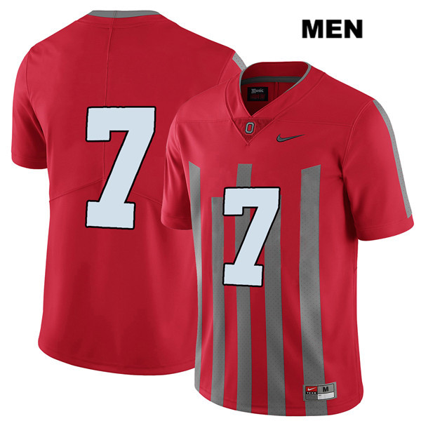 Dwayne Haskins Nike Mens Red Ohio State Buckeyes Elite Stitched Authentic no. 7 College Football Jersey - Without Name - Dwayne Haskins Jersey