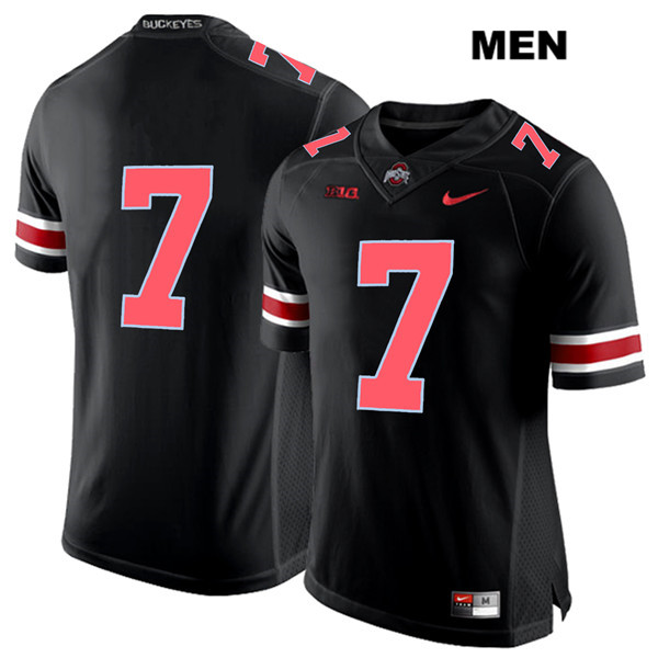 Dwayne Haskins Red Font Stitched Mens Nike Black Ohio State Buckeyes Authentic no. 7 College Football Jersey - Without Name - Dwayne Haskins Jersey