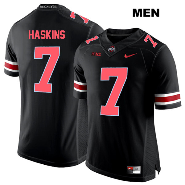 Dwayne Haskins Nike Mens Stitched Black Red Font Ohio State Buckeyes Authentic no. 7 College Football Jersey - Dwayne Haskins Jersey