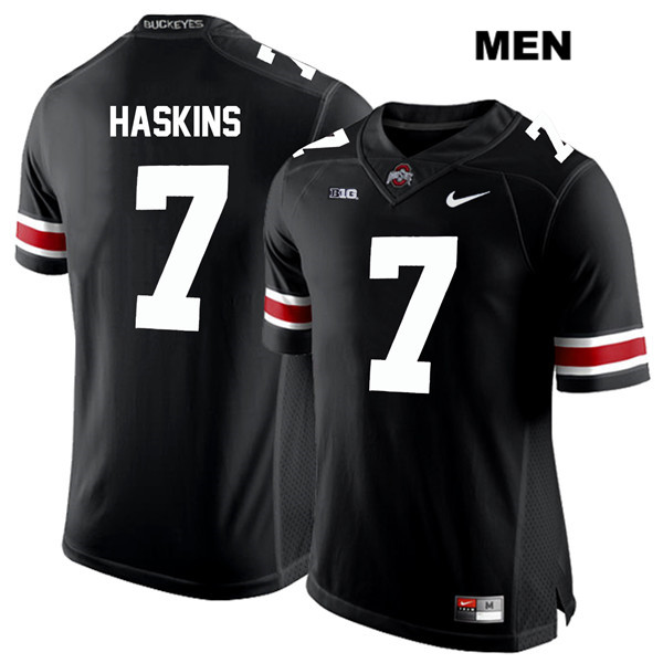 Dwayne Haskins Stitched Mens Nike Black White Font Ohio State Buckeyes Authentic no. 7 College Football Jersey - Dwayne Haskins Jersey