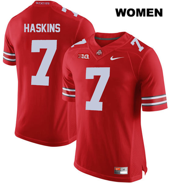 Dwayne Haskins Nike Womens Red Stitched Ohio State Buckeyes Authentic no. 7 College Football Jersey - Dwayne Haskins Jersey