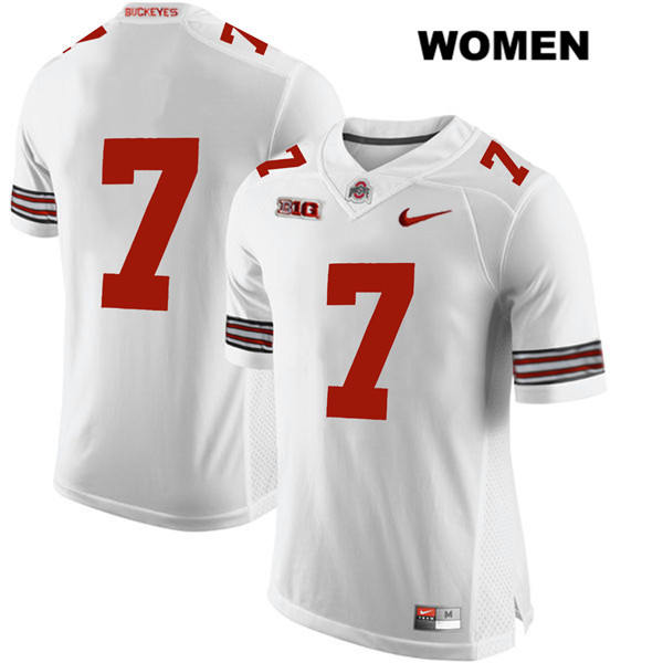 Dwayne Haskins Womens White Ohio State Buckeyes Stitched Authentic Nike no. 7 College Football Jersey - Without Name - Dwayne Haskins Jersey