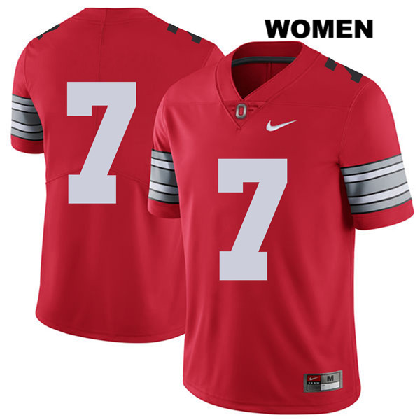 Dwayne Haskins Nike Womens Red Ohio State Buckeyes 2018 Spring Game Stitched Authentic no. 7 College Football Jersey - Without Name - Dwayne Haskins Jersey