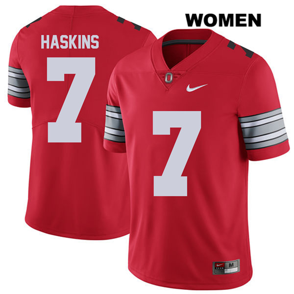 2018 Spring Game Dwayne Haskins Stitched Womens Nike Red Ohio State Buckeyes Authentic no. 7 College Football Jersey - Ohio State Buckeyes Jersey