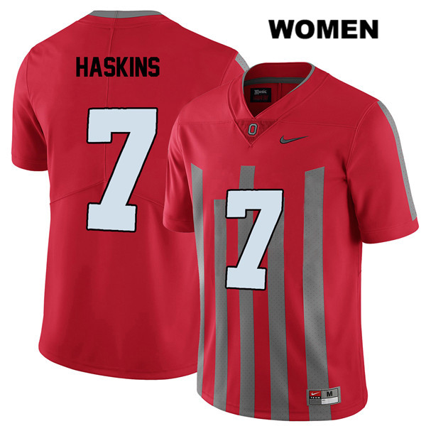 Dwayne Haskins Womens Elite Red Stitched Nike Ohio State Buckeyes Authentic no. 7 College Football Jersey - Dwayne Haskins Jersey