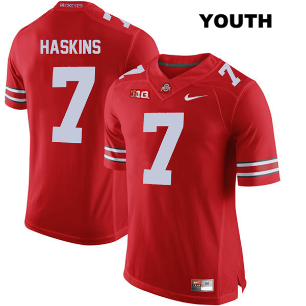 Dwayne Haskins Youth Red Nike Ohio State Buckeyes Stitched Authentic no. 7 College Football Jersey - Dwayne Haskins Jersey