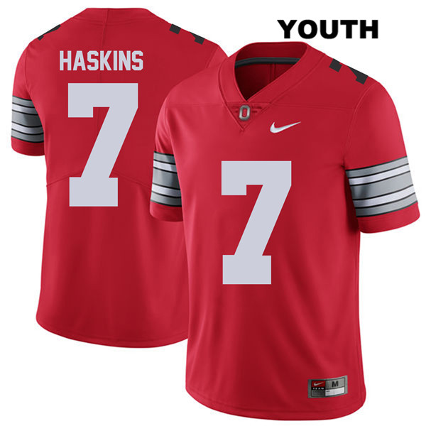 Dwayne Haskins Youth Red 2018 Spring Game Nike Ohio State Buckeyes Authentic Stitched no. 7 College Football Jersey - Dwayne Haskins Jersey