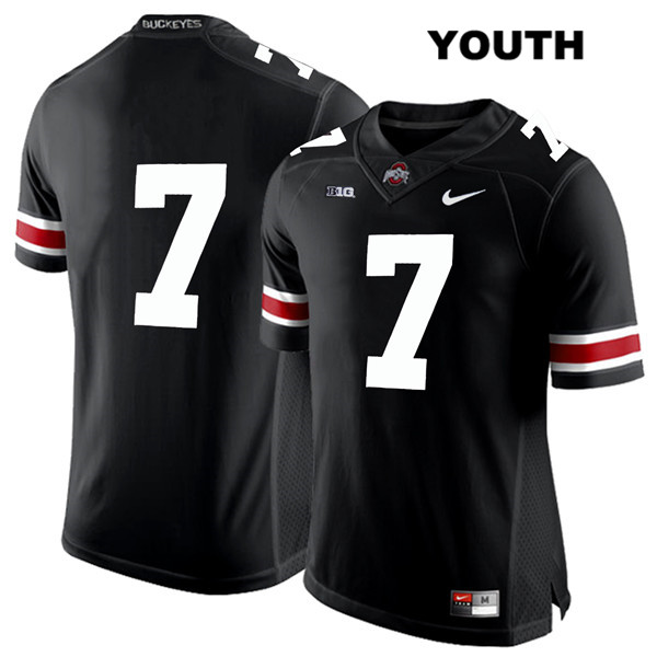 Dwayne Haskins White Font Youth Black Nike Ohio State Buckeyes Authentic Stitched no. 7 College Football Jersey - Without Name - Dwayne Haskins Jersey
