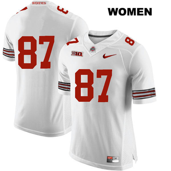 Ellijah Gardiner Womens White Nike Ohio State Buckeyes Authentic Stitched no. 87 College Football Jersey - Without Name