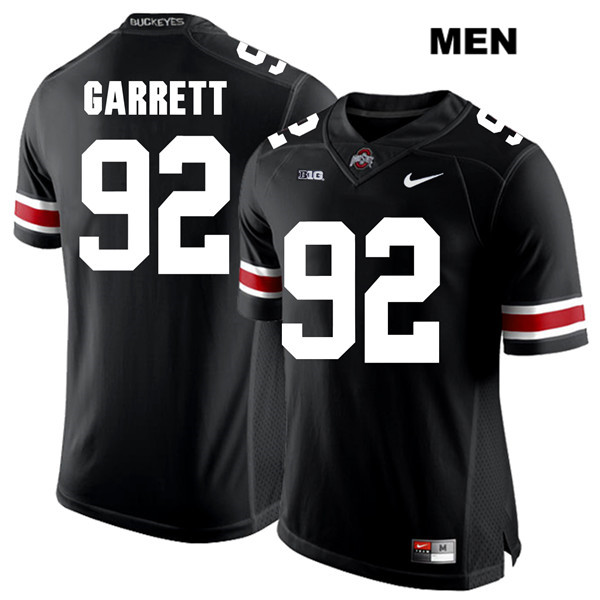 Haskell Garrett White Font Mens Black Nike Ohio State Buckeyes Stitched Authentic no. 92 College Football Jersey - Haskell Garrett Jersey