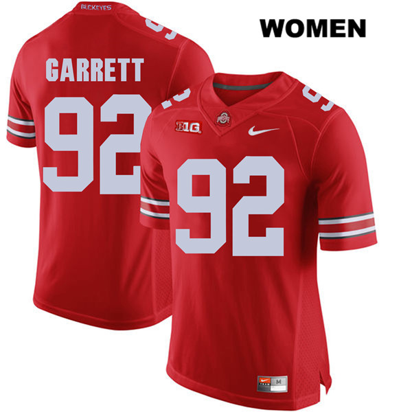 Haskell Garrett Womens Nike Red Stitched Ohio State Buckeyes Authentic no. 92 College Football Jersey - Haskell Garrett Jersey
