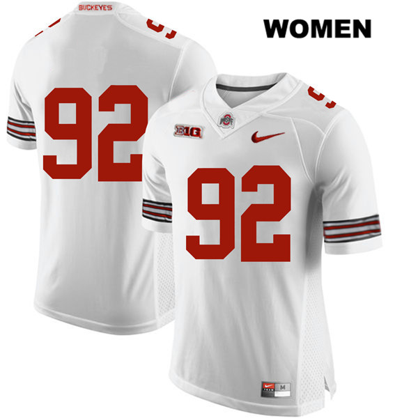 Haskell Garrett Womens White Nike Ohio State Buckeyes Authentic Stitched no. 92 College Football Jersey - Without Name - Haskell Garrett Jersey