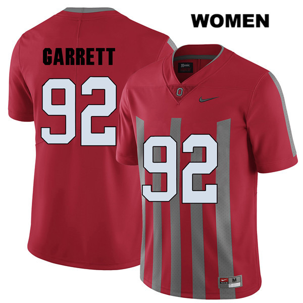 Elite Haskell Garrett Womens Red Nike Ohio State Buckeyes Stitched Authentic no. 92 College Football Jersey - Haskell Garrett Jersey