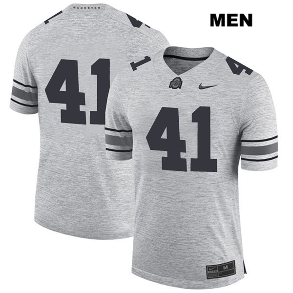 Hayden Jester Nike Mens Stitched Gray Ohio State Buckeyes Authentic no. 41 College Football Jersey - Without Name - Hayden Jester Jersey