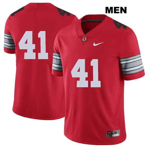 Hayden Jester 2018 Spring Game Mens Nike Red Ohio State Buckeyes Authentic Stitched no. 41 College Football Jersey - Without Name - Hayden Jester Jersey