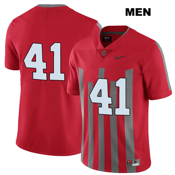 Hayden Jester Stitched Mens Red Ohio State Buckeyes Elite Authentic Nike no. 41 College Football Jersey - Without Name - Hayden Jester Jersey