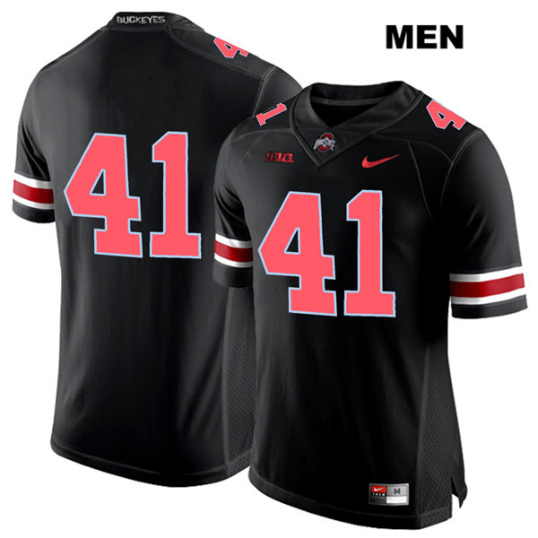 Hayden Jester Mens Stitched Black Ohio State Buckeyes Nike Authentic Red Font no. 41 College Football Jersey - Without Name - Hayden Jester Jersey
