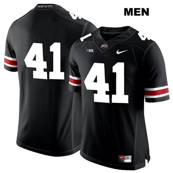 Hayden Jester White Font Mens Black Ohio State Buckeyes Nike Authentic Stitched no. 41 College Football Jersey - Without Name - Hayden Jester Jersey