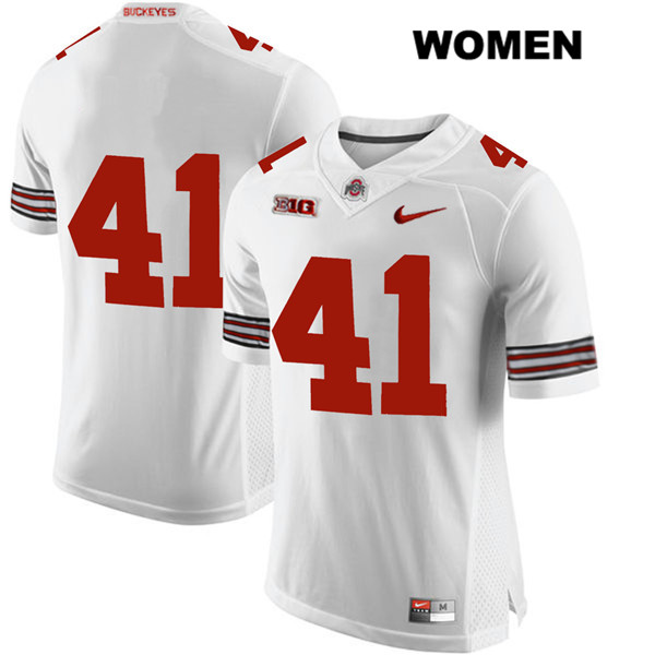 Hayden Jester Womens Nike White Ohio State Buckeyes Authentic Stitched no. 41 College Football Jersey - Without Name - Hayden Jester Jersey