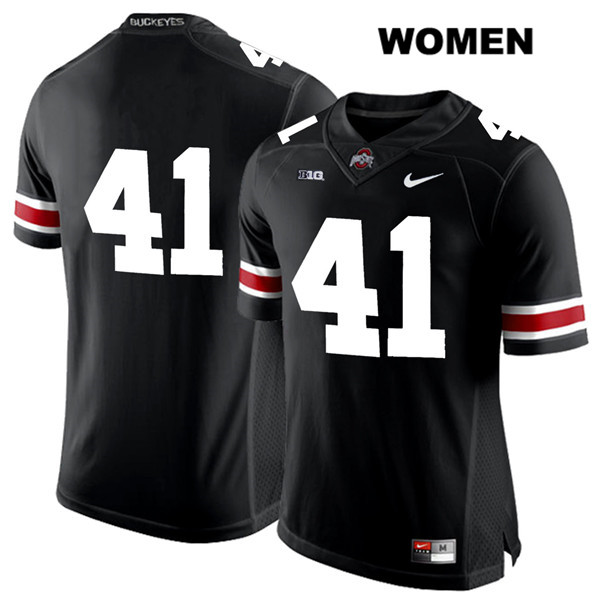 Hayden Jester Womens Stitched Black White Font Ohio State Buckeyes Nike Authentic no. 41 College Football Jersey - Without Name - Hayden Jester Jersey
