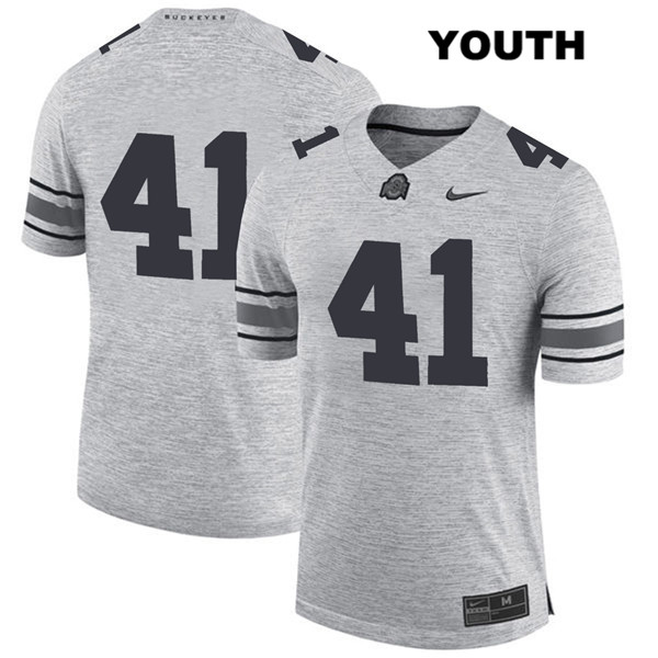 Hayden Jester Nike Youth Gray Ohio State Buckeyes Stitched Authentic no. 41 College Football Jersey - Without Name - Hayden Jester Jersey
