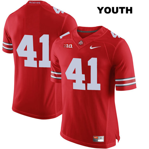 Hayden Jester Youth Red Nike Ohio State Buckeyes Authentic Stitched no. 41 College Football Jersey - Without Name - Hayden Jester Jersey
