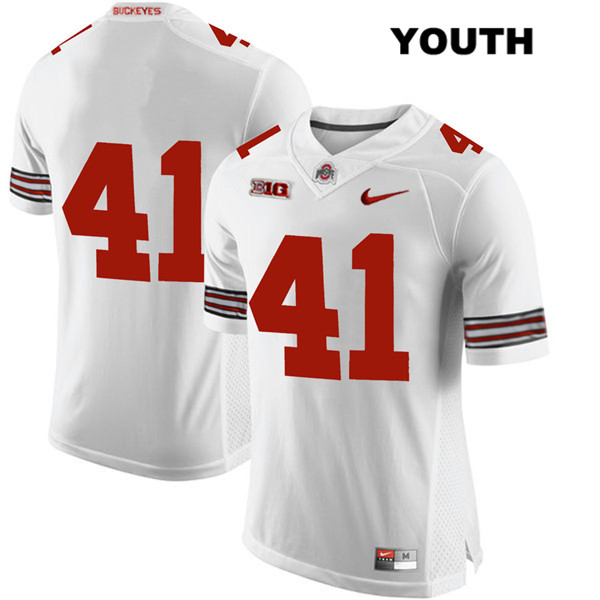 Hayden Jester Nike Youth Stitched White Ohio State Buckeyes Authentic no. 41 College Football Jersey - Without Name - Hayden Jester Jersey