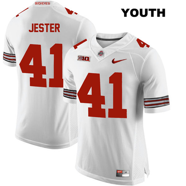 Hayden Jester Stitched Youth White Nike Ohio State Buckeyes Authentic no. 41 College Football Jersey - Hayden Jester Jersey