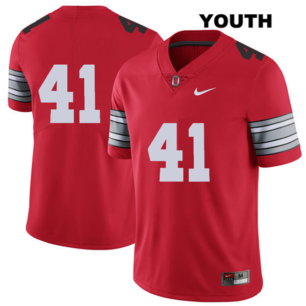 Hayden Jester Nike Youth Red Ohio State Buckeyes 2018 Spring Game Authentic Stitched no. 41 College Football Jersey - Without Name - Hayden Jester Jersey