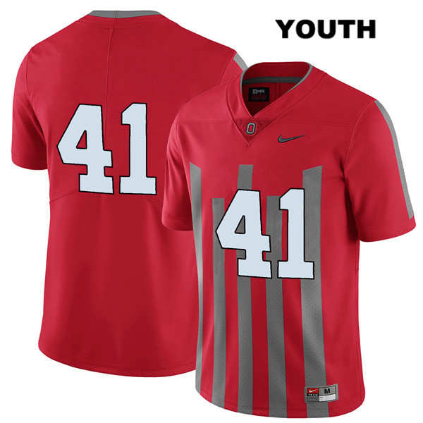Hayden Jester Nike Youth Stitched Red Elite Ohio State Buckeyes Authentic no. 41 College Football Jersey - Without Name - Hayden Jester Jersey