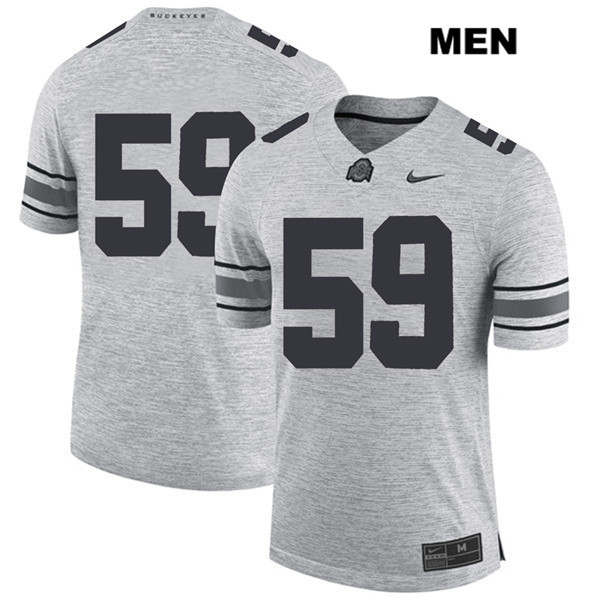 Isaiah Prince Mens Nike Gray Stitched Ohio State Buckeyes Authentic no. 59 College Football Jersey - Without Name - Isaiah Prince Jersey