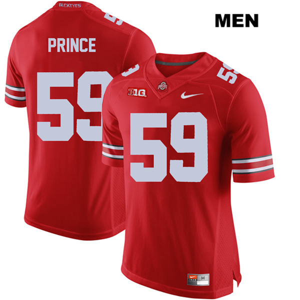 Isaiah Prince Mens Red Stitched Ohio State Buckeyes Authentic Nike no. 59 College Football Jersey - Isaiah Prince Jersey