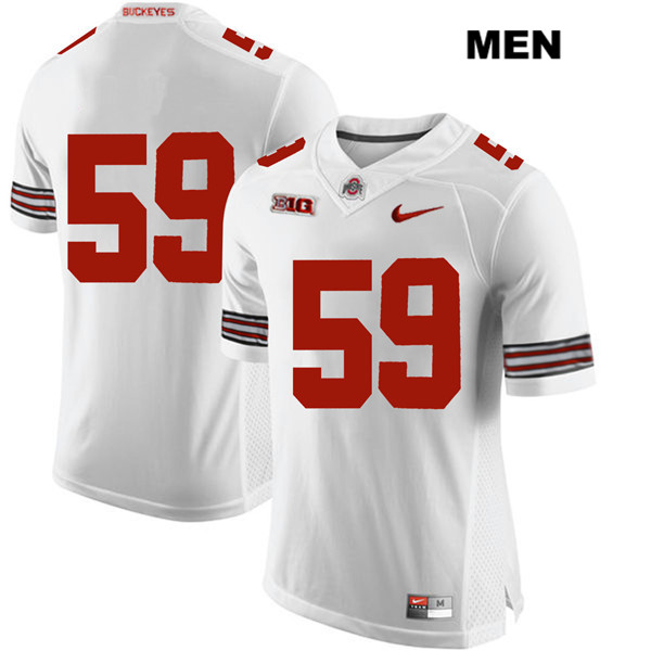 Isaiah Prince Nike Stitched Mens White Ohio State Buckeyes Authentic no. 59 College Football Jersey - Without Name - Isaiah Prince Jersey