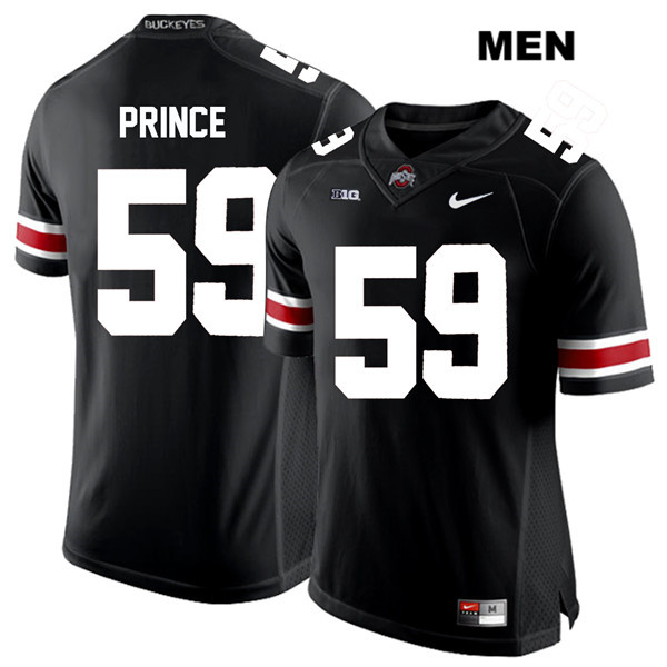 Isaiah Prince Stitched Mens Black Ohio State Buckeyes Nike Authentic White Font no. 59 College Football Jersey