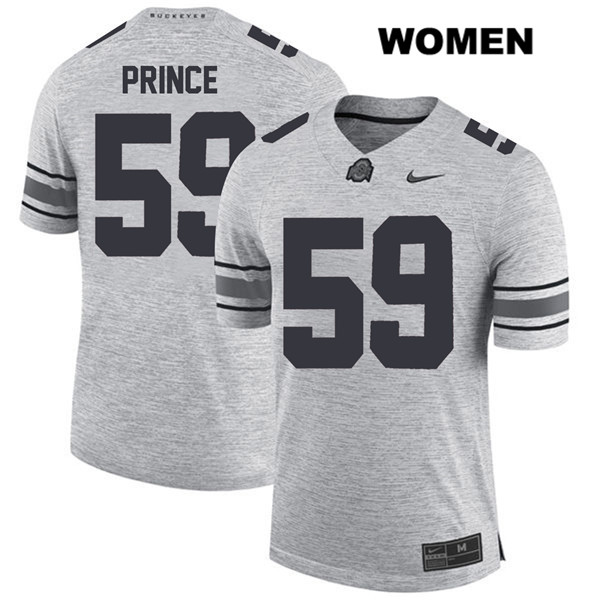 Isaiah Prince Womens Gray Stitched Nike Ohio State Buckeyes Authentic no. 59 College Football Jersey - Isaiah Prince Jersey
