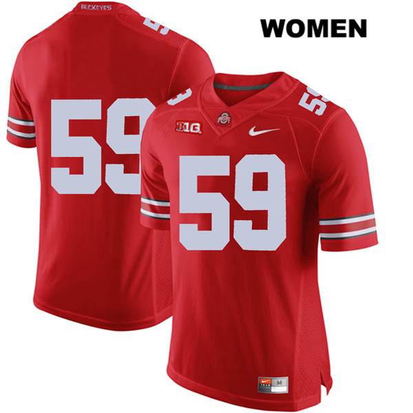 Isaiah Prince Nike Womens Stitched Red Ohio State Buckeyes Authentic no. 59 College Football Jersey - Without Name - Isaiah Prince Jersey